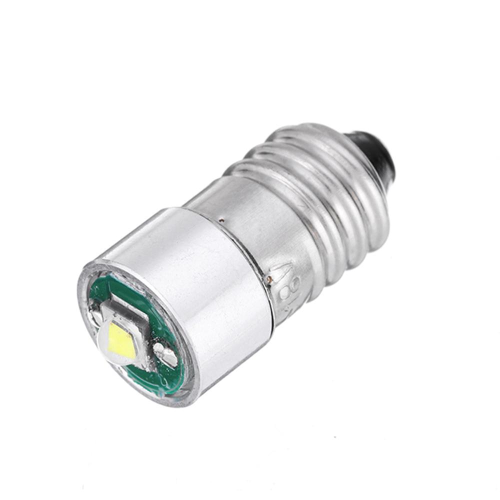 E10 3W LED Senter Penggantian Bohlam Torch Light DC 3-18V Putih 1PCS