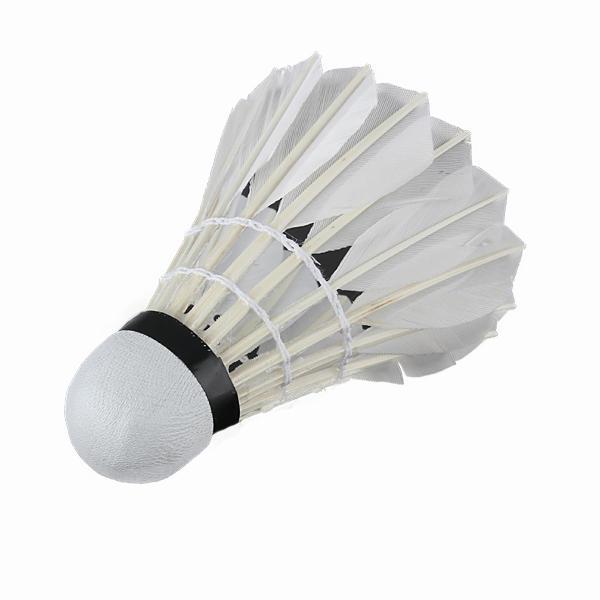 6 x White Goose Feather Badminton Ball Game Sport Training - 1