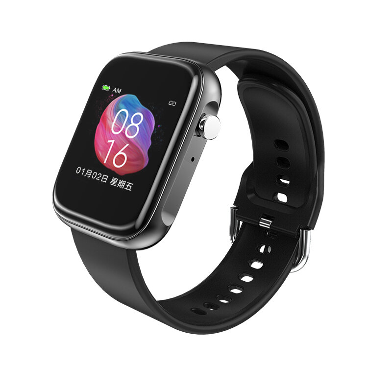 [bluetooth Call]Bakeey T3Pro 1.54inch Full Touch Screen SpO2 Heart Rate Blood Pressure Monitor SOS Call Music Playback S