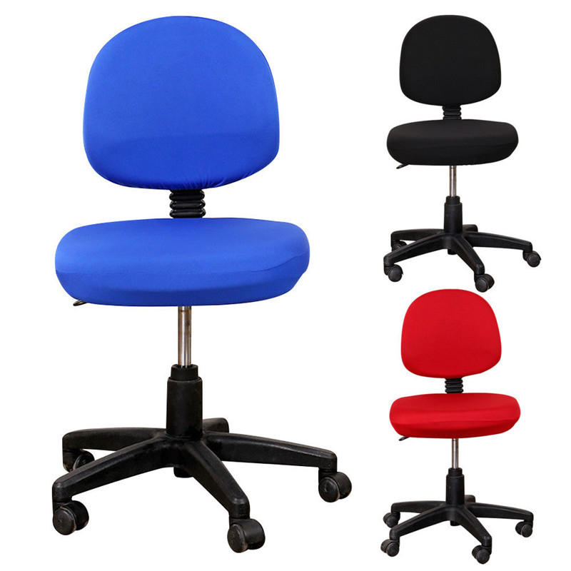 Removable Office Computer Swivel Chair Seat Cover Case w/ Headrest Covers