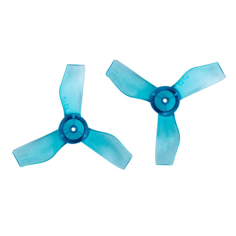 4 Pairs Gemfan 1219 1.2x1.9x3 31mm 1mm Hole 3-blade Propeller for 0703-1103 RC Drone FPV Racing Brushless Motor