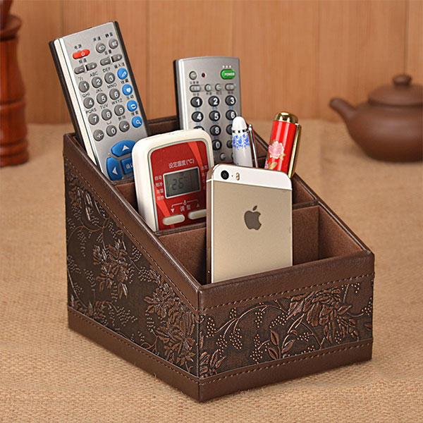 Scatola di immagazzinaggio di telecomando classico scrivania penna del desktop organizzatore articoli vari titolare