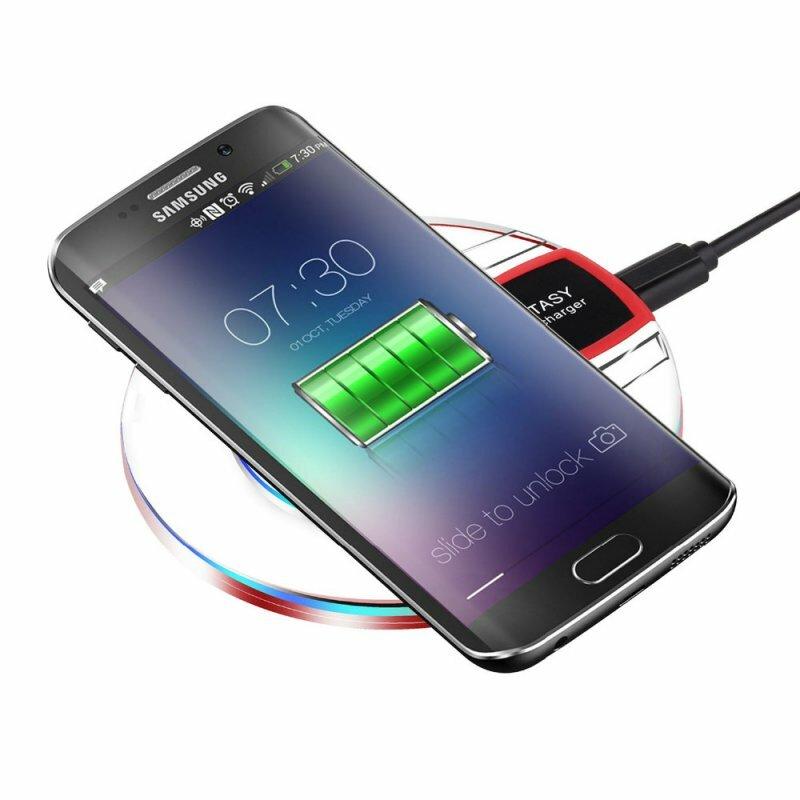 Caricabatterie Caricatore ba<x>se di Carica Qi Wireless Senza Fili da Tavolo per Telefono Cellulare per Samsung S8+ S7 S7 Edge