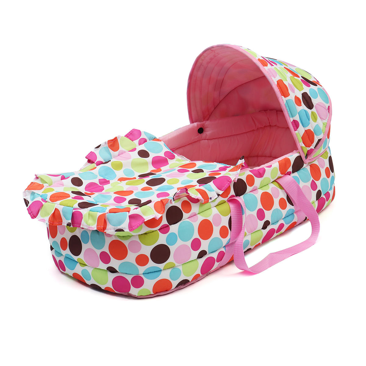 Portable Newborn Baby Infant Moses Basket Bed Baby Cradle Bassinet Travel Comfortable - 4