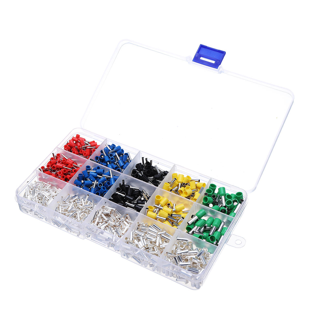 1300Pcs Assorted Crimp Spade Terminal Insulated Electrical Wire Connector Terminal Set - 11