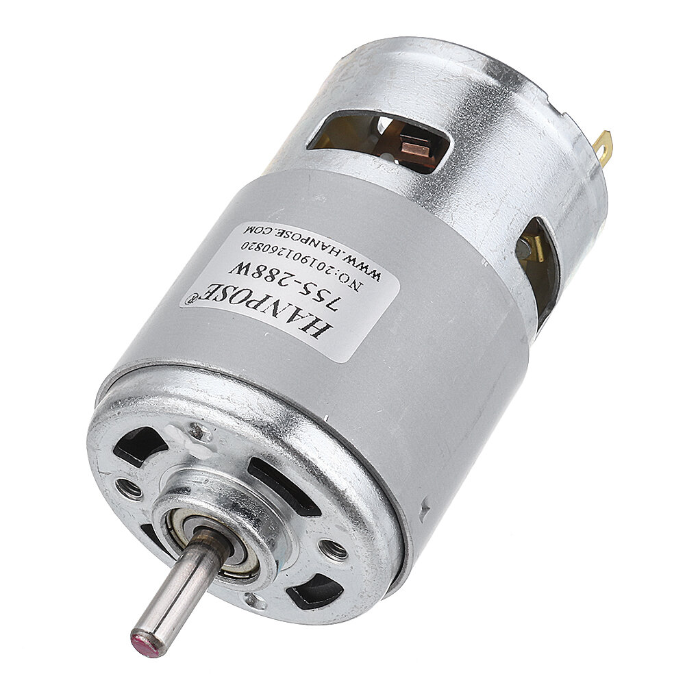 HANPOSE 775 Motor DC 12V 24V 80W 150W 288W DC Motor Large Torque High Power  DC Motor Double Ball Bearing Spindle Motor