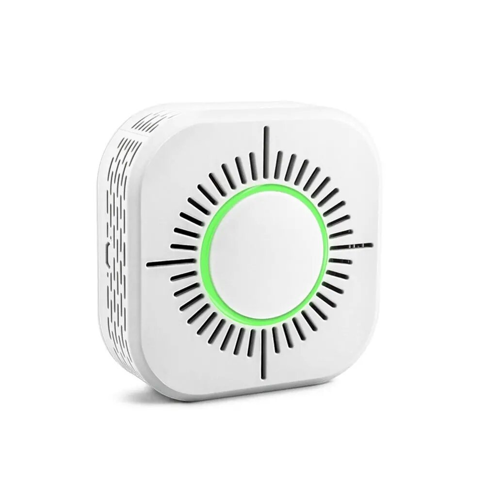 2Pcs 433MHz Wireless Smoke Detector Fire Security Alarm Protection Smart Sensor For Home Automation Works With SONOFF RF