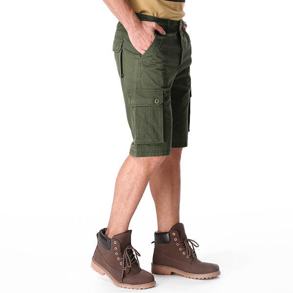 Outdoor Multi-pocket Cotton Cargo Shorts - 9