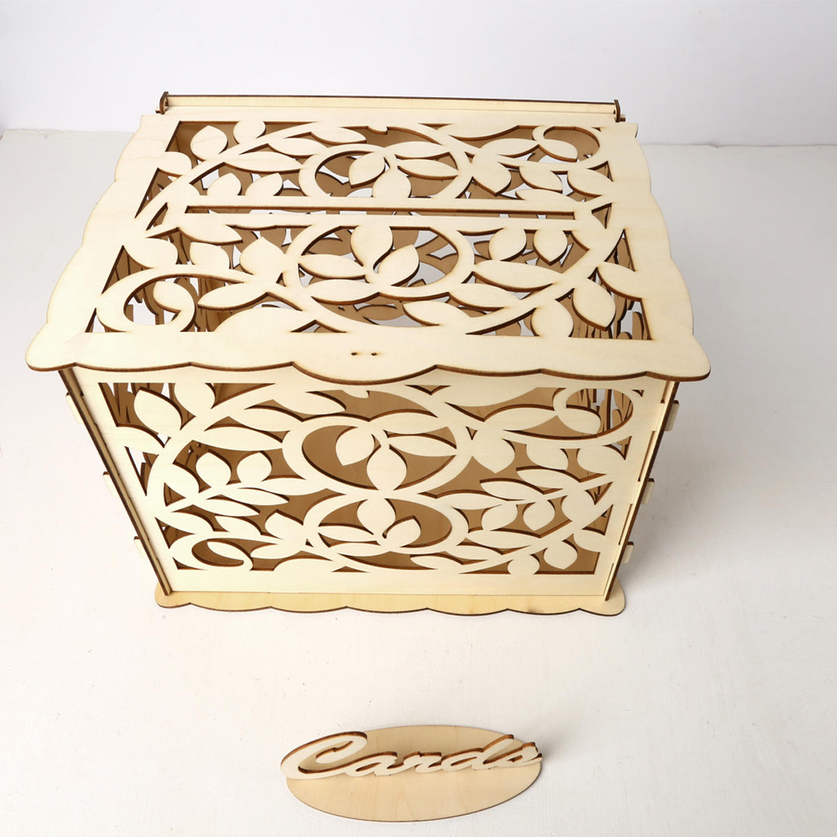 Wedding Card Box With Lock Diy Money Wooden Gift Leaf Boxes For Birthday Party