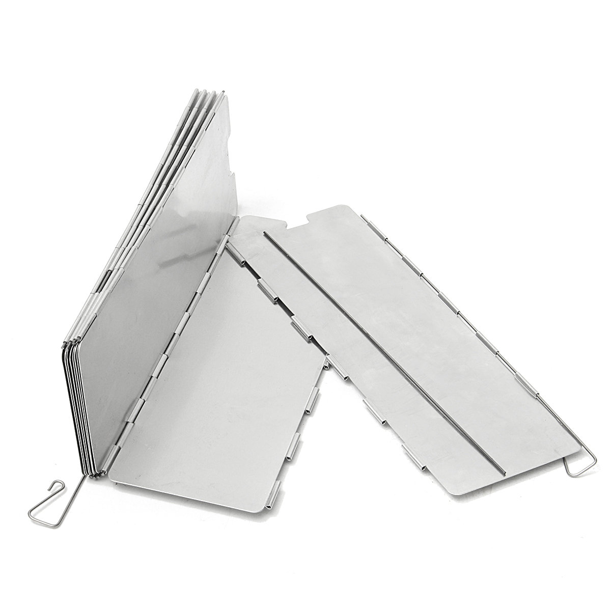 Camping 10 Plates Folding Wind Shield Picnic BBQ Cooking Gas Stove Aluminum Board Screen