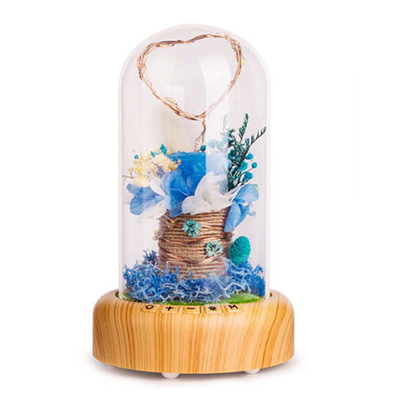Rose Bottle Table Lamp Wireless bluetooth Speaker Rechargeable LED Night Light Home Decoration