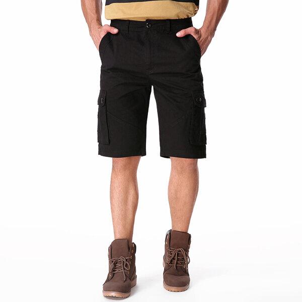Outdoor Multi-pocket Cotton Cargo Shorts - 4