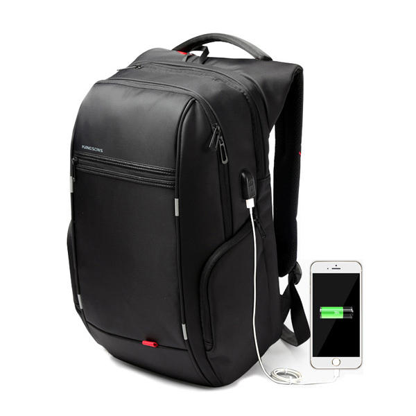 KINGSONS Men Women 13/15/17 Inches Computer Bag Anti Theft Travel Backpack with USB Charging Port