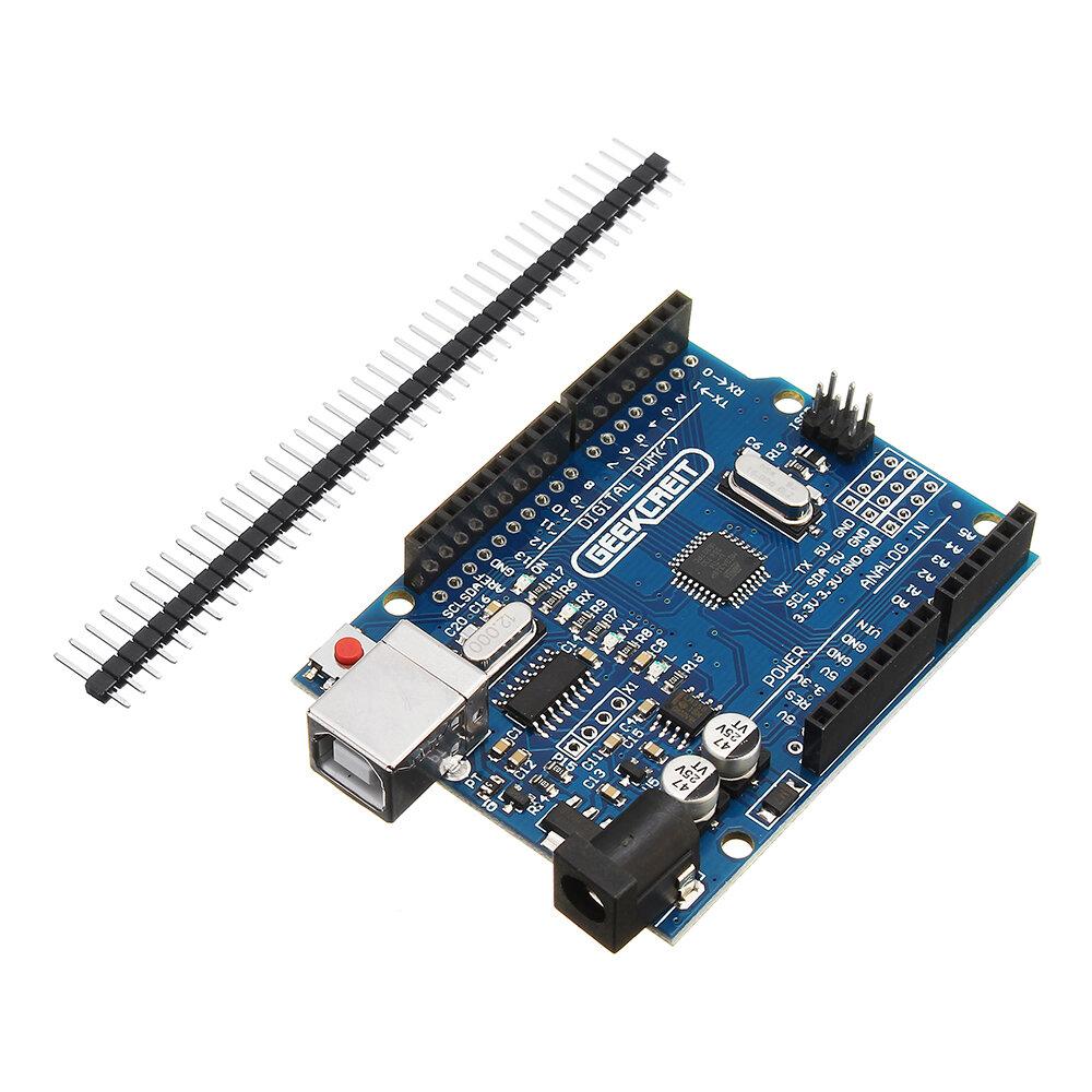 UNO R3 ATmega328P Development Board No Cable Geekcreit untuk Arduino - produk yang bekerja dengan papan Arduino resmi