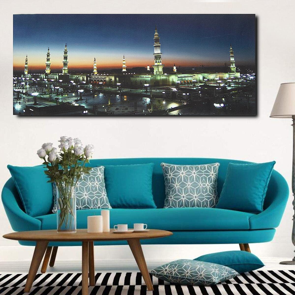 Печать на стенах Масджидская мечеть Исламский мусульманский холст Картины Картина Домашний декор