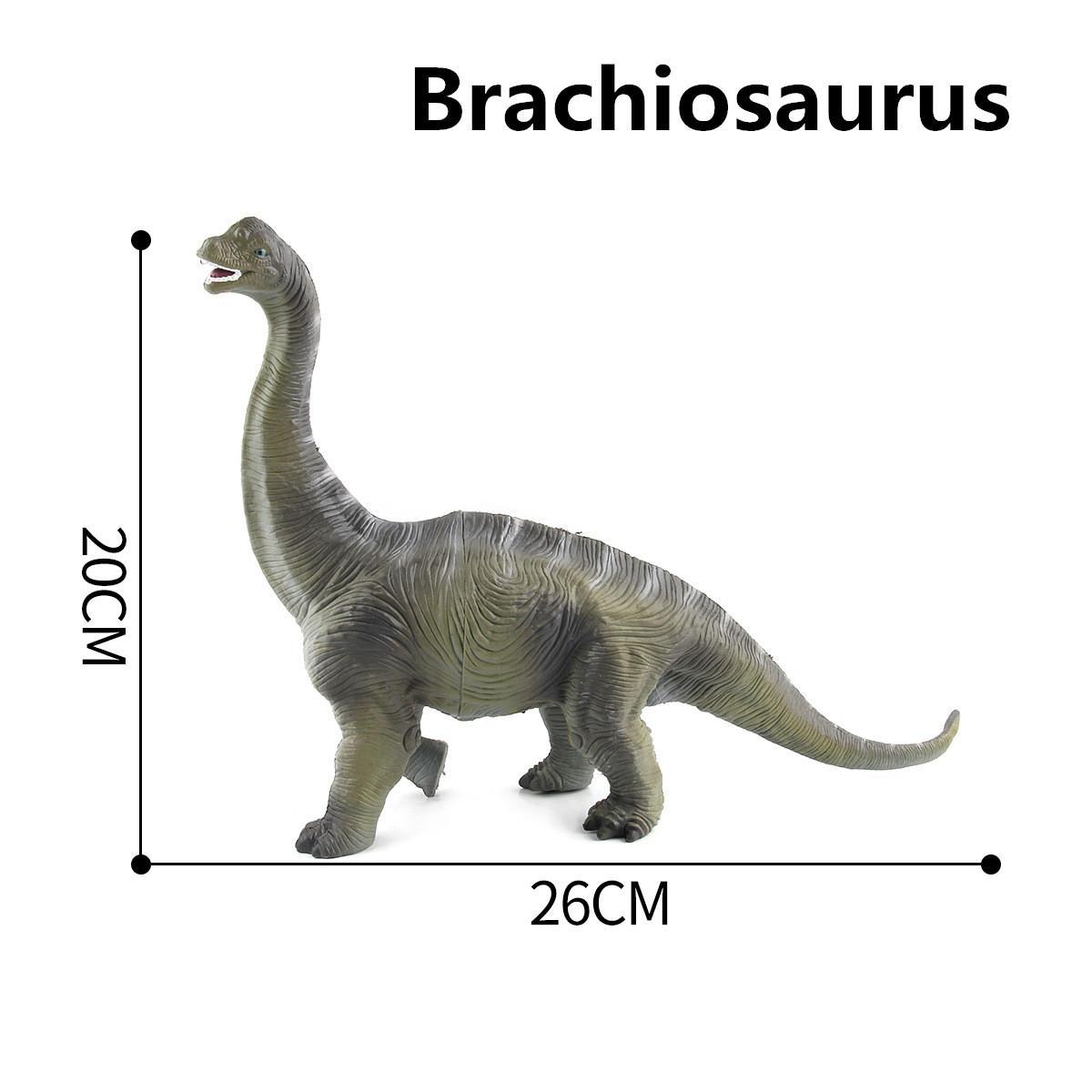 Большая игрушка динозавров Brachiosaurus Реалистичная твердая пластиковая модель Diecast для детей - 10