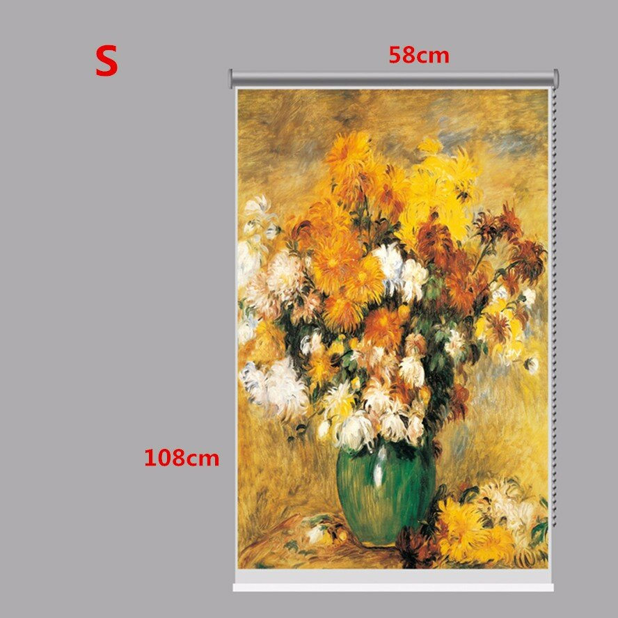 PAG Roller Shutters Autumn Print Painting Roller Blind Background Wall Window Curtain Decor - 2