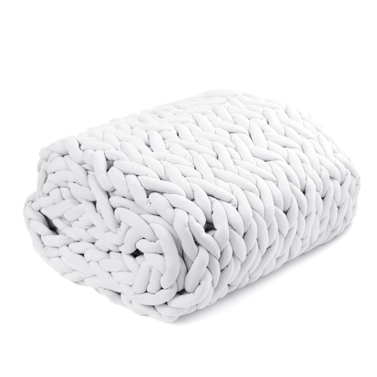 120x150cm Handmade Knitted Blanket Soft Warm Thick Line Cotton Throw Blankets - 5