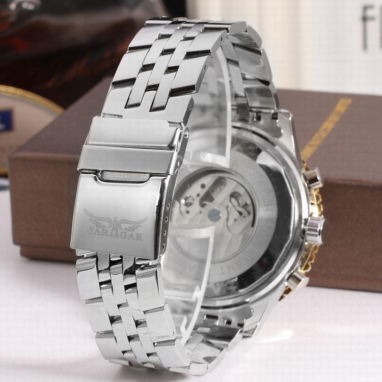 DEFFRUN Business Style Full Steel Automatic Mechanical Watch - 9