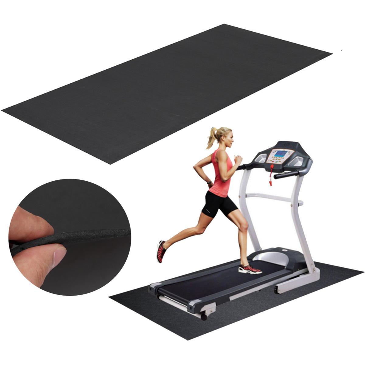 150x75cm Estera de la rueda de ardilla negra al aire libre Deportes Aptitud Yoga Esteras que funcionan con la almohadilla de la máquina