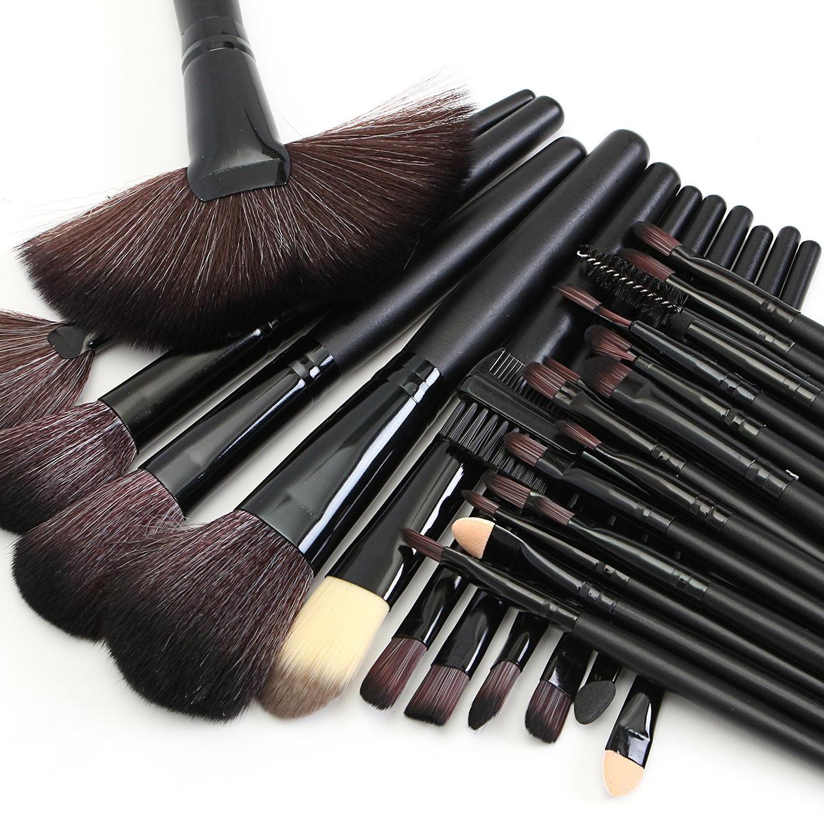 32pcs Pink Eyeshadow Eyebrow Blush Makeup Brushes Cosmetic Tools Set Soft - 9