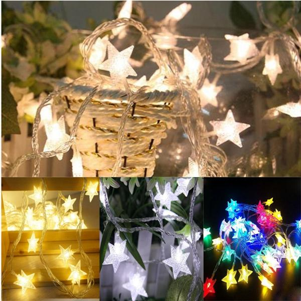 10m 100leds 8modes Indoor Outdoor Star Fairy String Light For Wedding Christmas Party Decor