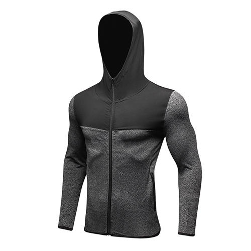 Men Hoodie Soccer Jersey Compression Fitness Tight T-Shirt Gym Sportswear Running Jacket фото