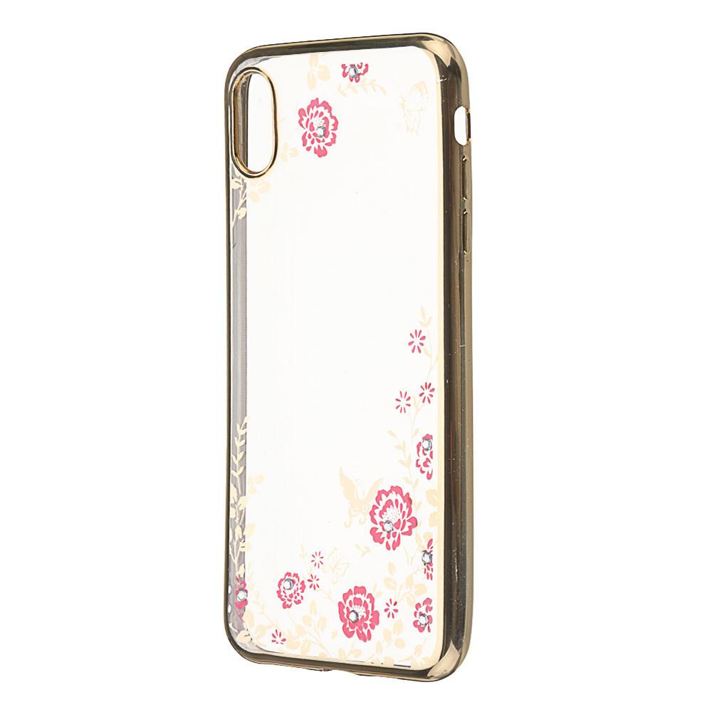 Bakeey ™ Blomster Gjennomsiktig Støtdempende Soft TPU Bakdeksel Beskyttelsesveske til iPhone XS Maks