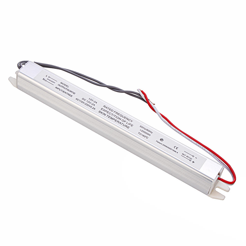 AC180-240V to DC12V 2A 25W Ultra-thin Lamp Box Switching Power Supply 188*17*17mm