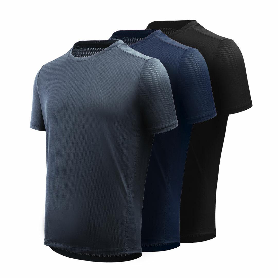 26b67ad7f5bf85 Giavnvay męska koszulka sportowa z krótkim rękawem, szybkoschnąca,  ultra-cienka, gładka koszulka
