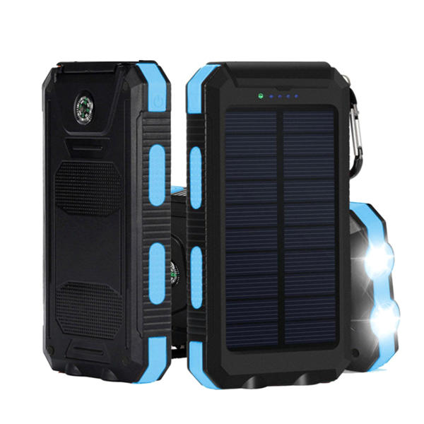 newest 6e974 53c0c Bakeey LED Flashight 10000mAh Dual USB Solar Energy DIY Power Bank Battery  Case For Mobile Phone Tablet