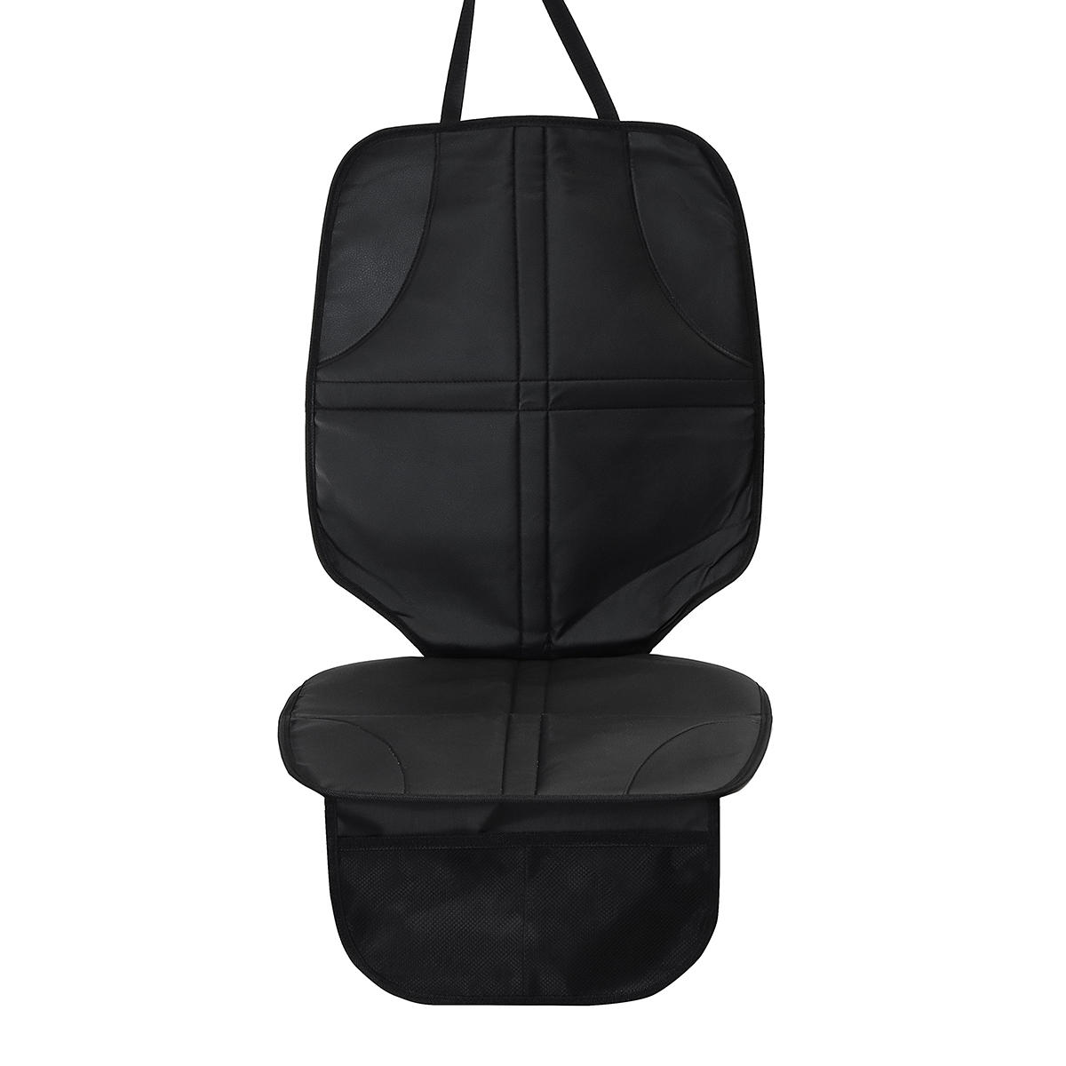 Single Long Black 55cm Leather With Pocket baby Car Seat Cushion Non-slip Wear-resistant Anti-dirty Waterproof Pad