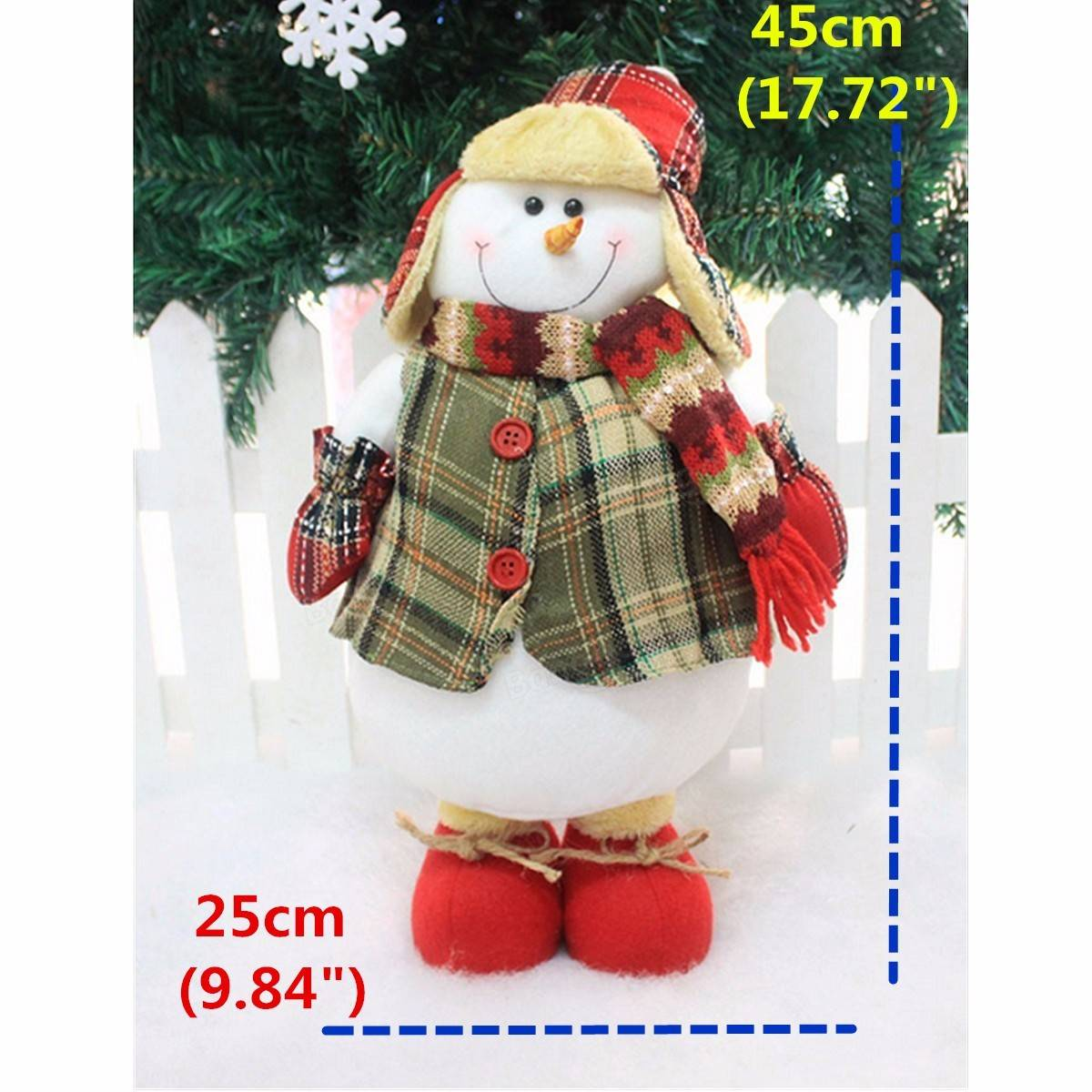 Large Xmas Christmas Santa Clau Snowman Ornament Christmas Tree Desk Ornament - 4