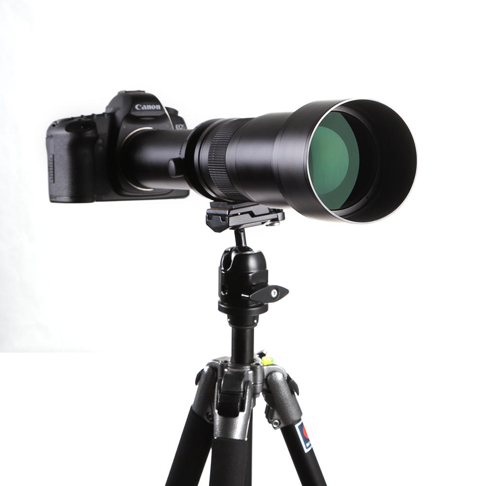 Lightdow 650-1300mm F8.0-F16 Super Telephoto Manual Zoom Lens for Nikon for Canon for Sony for Pantex Camera
