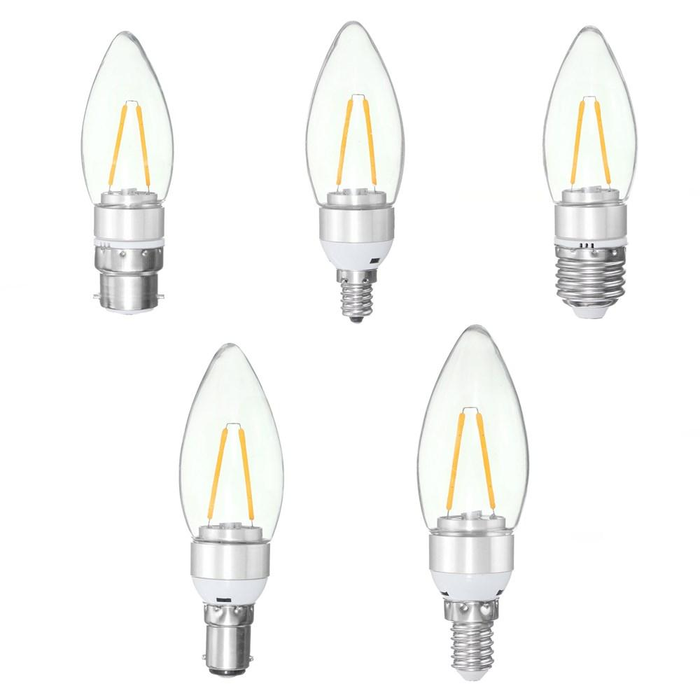 85-265V 4W E27 E14 B22 E12 25 SMD 2835 430Lm Silvery LED Candle Light Bulb Pure White Warm White - 2