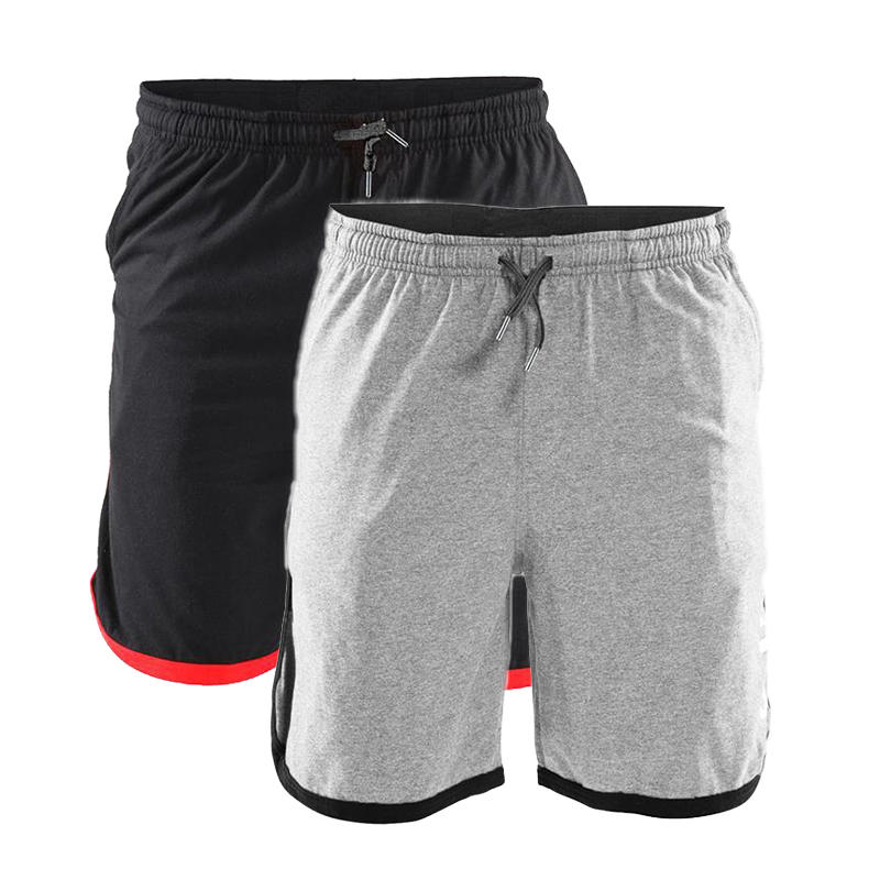 Y-280 Summer Men Gyms Workout Elastic Waist Cotton Shorts with Pockets Athletic Shorts Jersey Shorts фото
