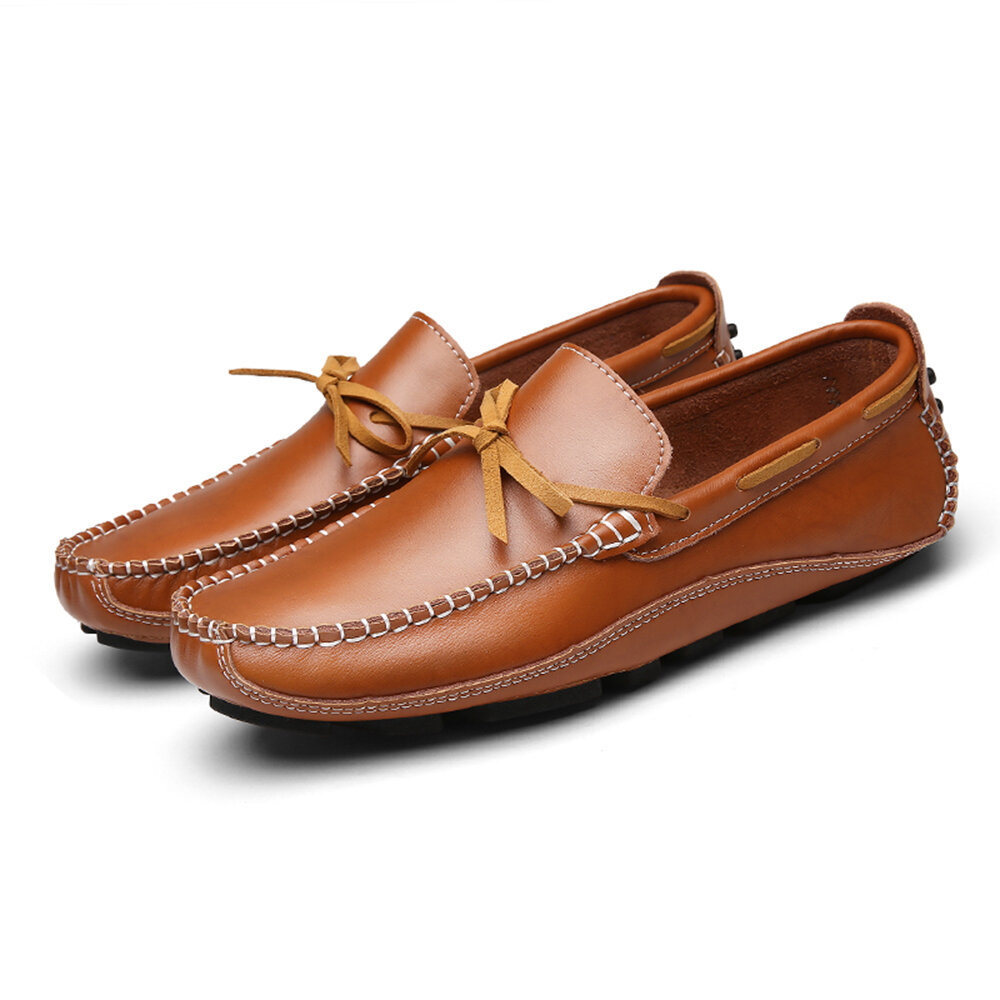 Men casual genuine leather loafers Sale