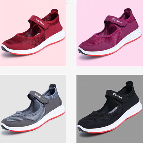 Printing Trainers Lace Up Comfortable Sport Casual Shoes For Women - 4