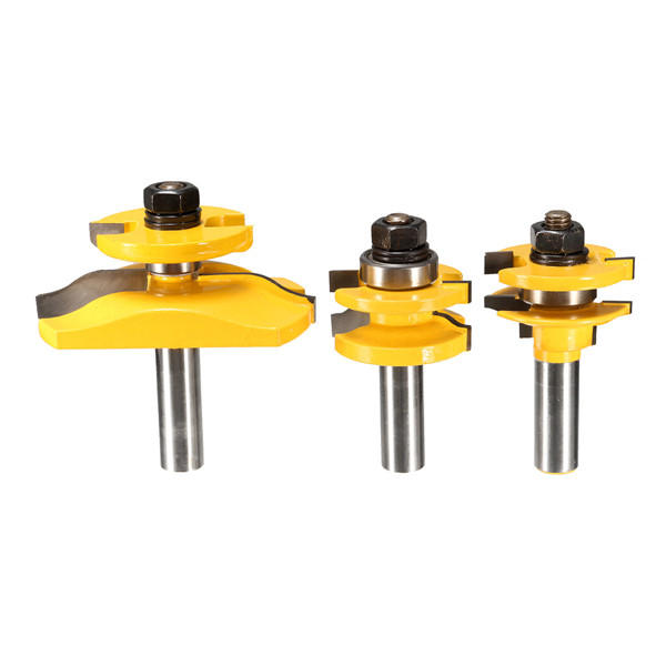 2pcs 1/2 And 1/4 Inch Shank Adjustable Rabbet Router Bit Set For Woodworking - 1