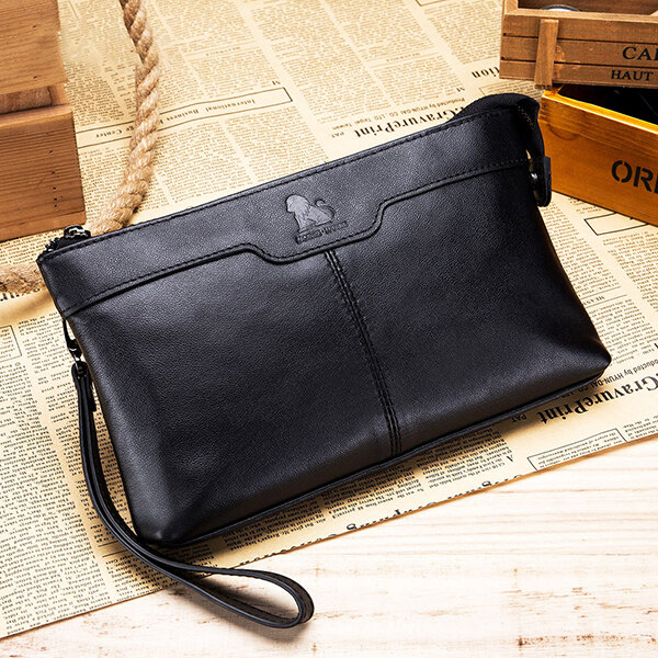Men Fashion Businesss Phone Bag Clutches Bag Zipper Long Wallet Bag - 1