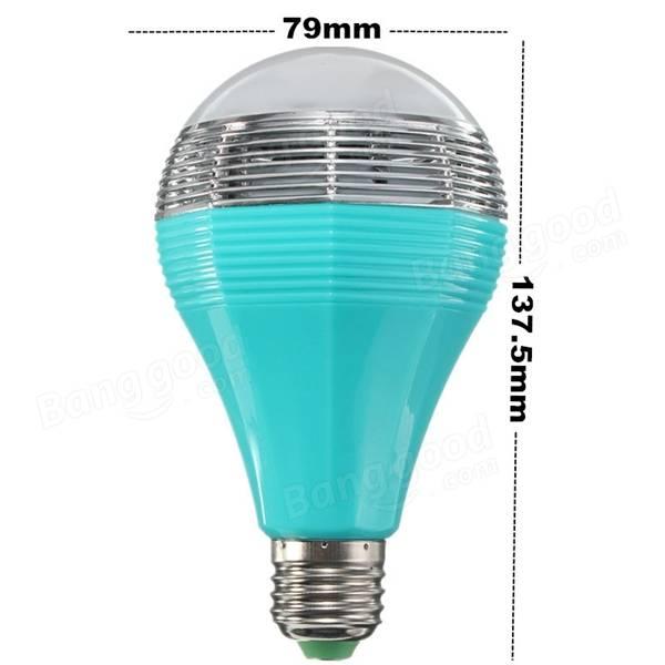Mipow E27 5W RGB Color Changing bluetooth Intelligent Smart LED Light Bulb 110-240V - 12