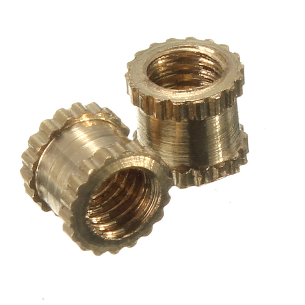Suleve™ M3BN1 M3*4mm H62 Brass Knurl Nuts DIY Accessories 100pcs