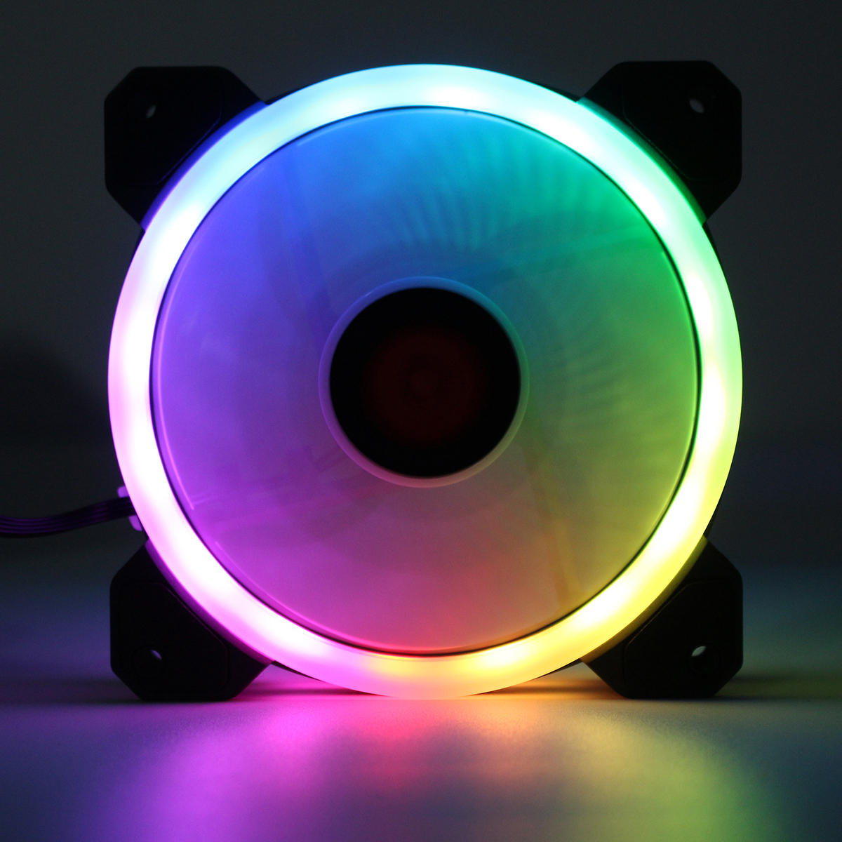 Coolmoon 6PCS 120mm Multilayer Backlit RGB Cooling Fan Computer Case PC CPU Cooling Fan with the Remote Control - 4