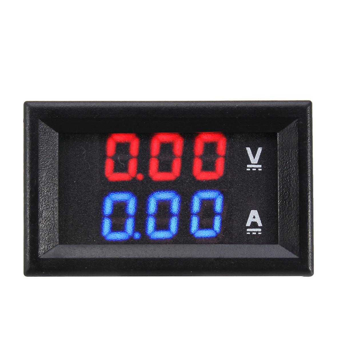 Dual Red Blue LED Vôn kế kỹ thuật số Ampe kế Bảng điều khiển Volt kế