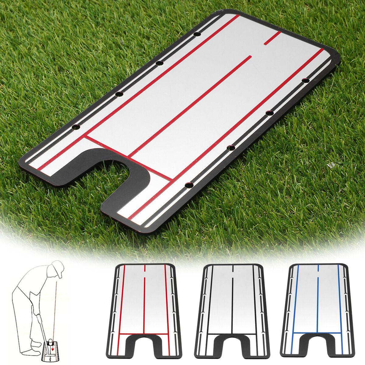 Acrylic Golf Putting Mirror Aid SwingTrainer Alignment Training Line Practice Tool