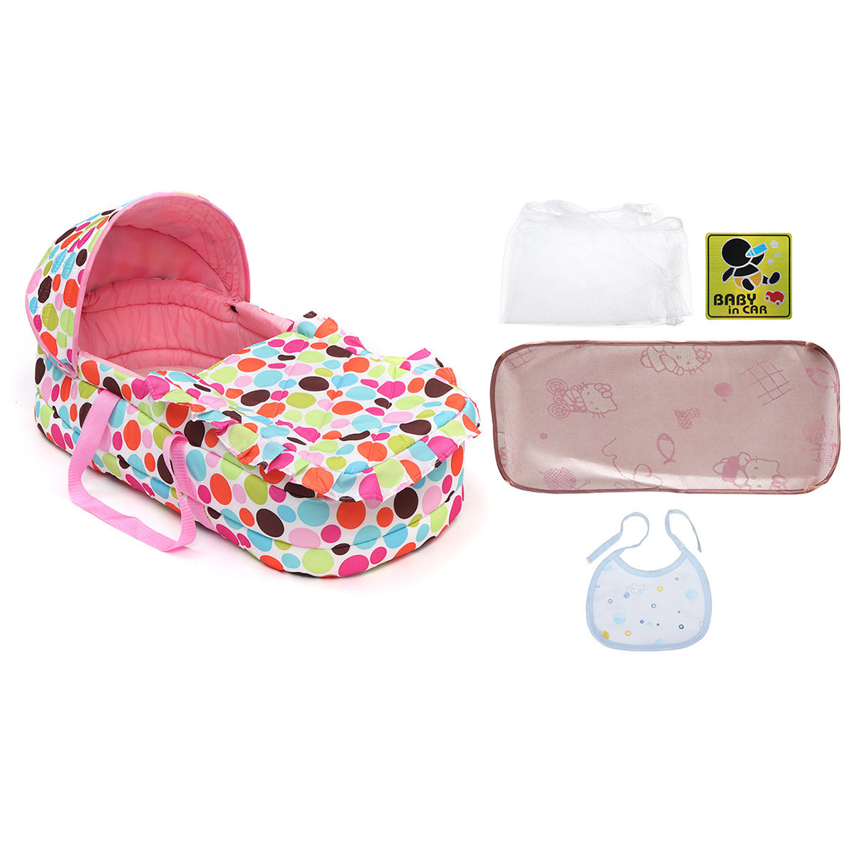 Portable Newborn Baby Infant Moses Basket Bed Baby Cradle Bassinet Travel Comfortable - 12