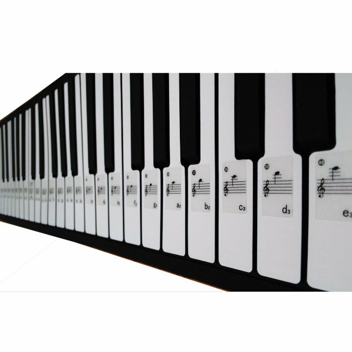 Piano Keyboard Musical Note Sticker for 61 Keys Electronic Keyboard Piano