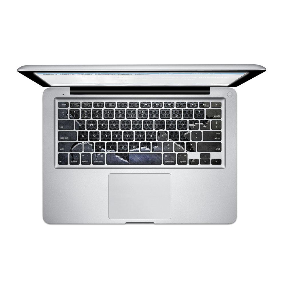 PAG Fragmentary Stålplate PVC Keyboard Bubble Free Selvklebende Dekal For Macbook Pro 13 15 Tommer