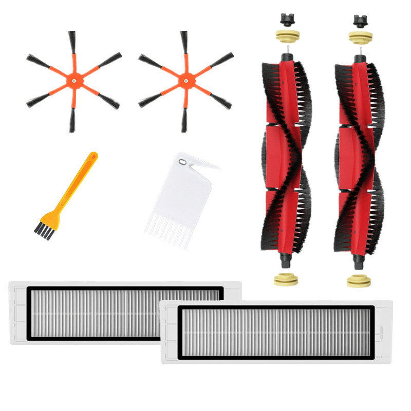 8pcs Replacements for XIAOMI Roborock S6 S55 Vacuum Cleaner Parts Accessories Side Brushes*2 HEPA Filters*2 Removable Ma