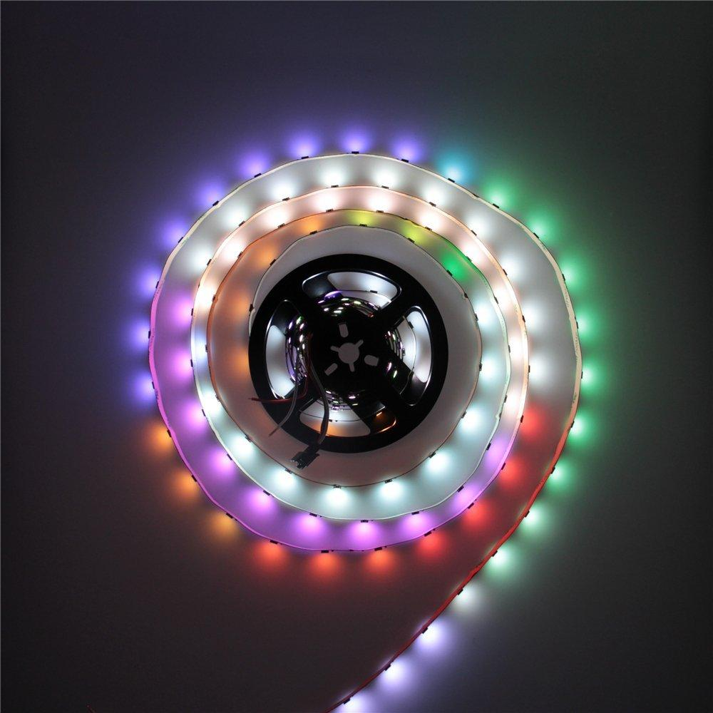 1M WS2812B 5050 RGB Non-Waterproof 60 LED Strip Light Dream Color Changing Individual Addressable DC 5V - 6